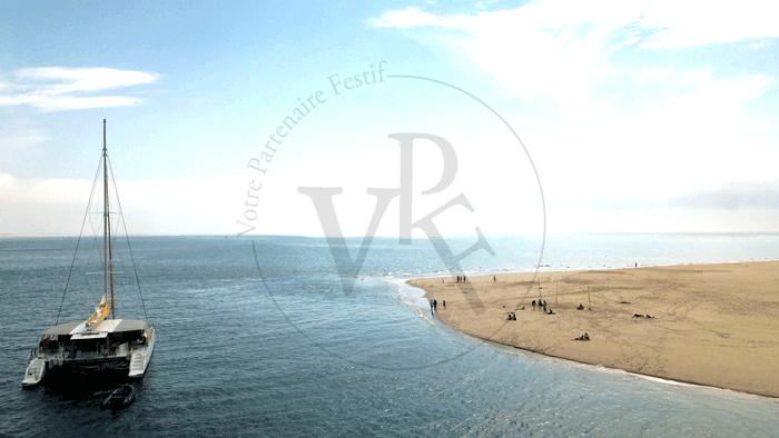 Photo de drone bassin d'arcachon Votre Partenaire Festif