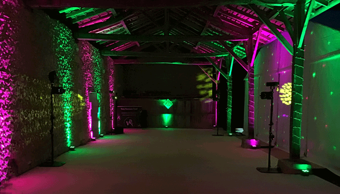Eclairage intérieur des locaux pour ambiance tamisée