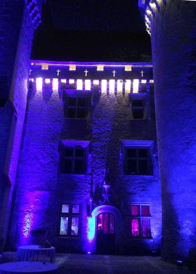 Eclairage château Votre Partenaire Festif