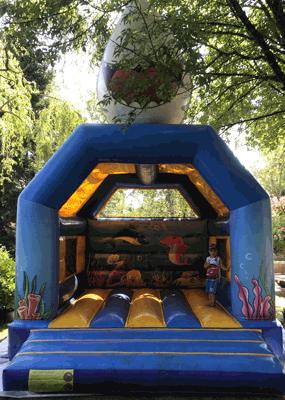 Structure gonflable requin pour enfants