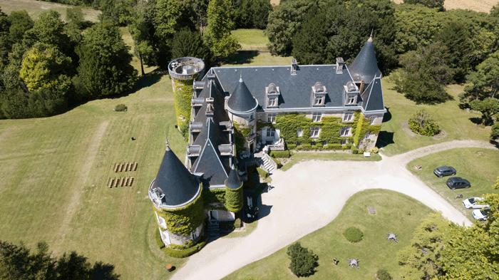 Publicité vidéo drone chateau professionnel